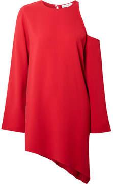 IRO Awati Asymmetric Cutout Crepe Mini Dress - Red