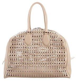 Alaïa Large Laser Cut Shoulder Bag