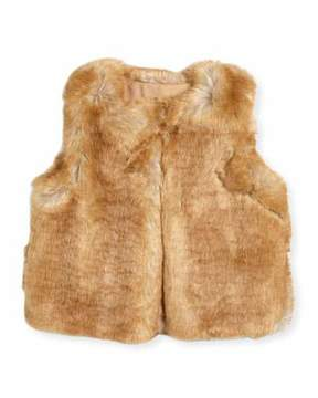 Chloé Sleeveless Faux-Fur Vest, Size 4-5