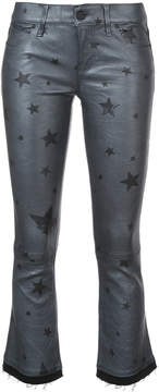 RtA cropped flared star trousers