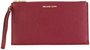 MICHAEL Michael Kors Mercer leather clutch bag - PINK & PURPLE - STYLE