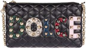 Dolce & Gabbana Quilted Clutch - BLACK - STYLE