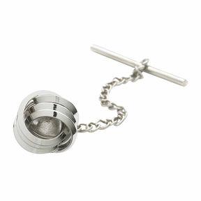 Asstd National Brand Love Knot Rhodium-Plated Tie Tack