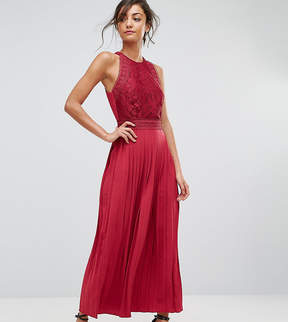 Little Mistress Tall Lace Applique Top Maxi Dress