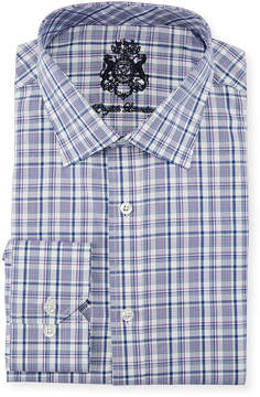 English Laundry Classic-Fit Plaid Dress Shirt, Purple