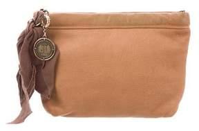 Lanvin Leather Zip Clutch