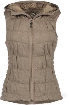 Blanc Noir Brown Hooded Puffer Vest