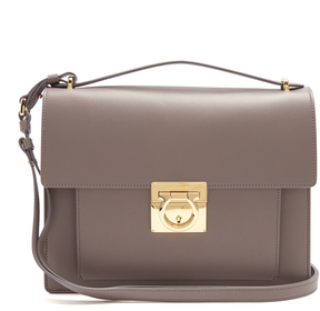 SALVATORE FERRAGAMO Marisol Rubin leather shoulder bag