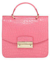 Furla Julia Mini Crocodile-Embossed Handbag