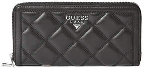 GUESS Luxe Quilted Zip-Around Wallet