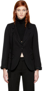 Ann Demeulemeester Black Single-Button Blazer