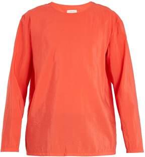 Lemaire Long-sleeved silk-blend T-shirt