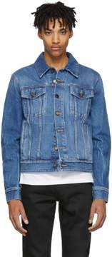Saint Laurent Blue Denim Shadow Jacket