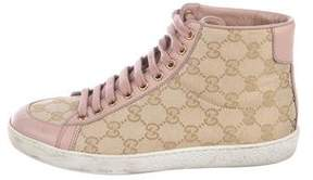 Gucci GG Canvas High-Top Sneakers