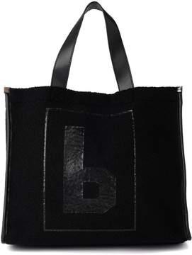 MM6 MAISON MARGIELA Black Wool Shopper