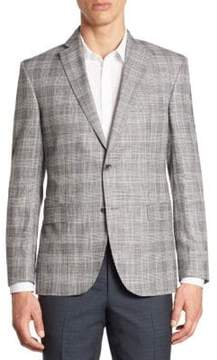 Saks Fifth Avenue COLLECTION Multi Plaid Bamboo Jacket