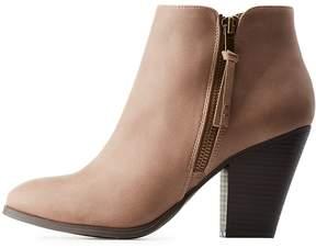 Charlotte Russe Side-Zip Chunky Heel Booties