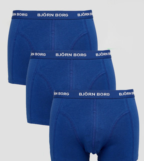 Bjorn Borg 3 Pack Trunks in Navy