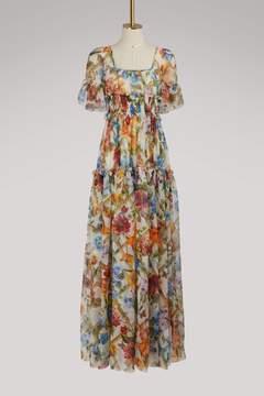 Dolce & Gabbana Bamboo print silk dress