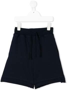 Paolo Pecora Kids raw edge track shorts