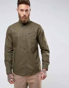 Lee Regular Fit Plain Shirt Button Down One Pocket