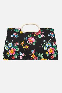 Kendra Floral Gold Handle Clutch Bag