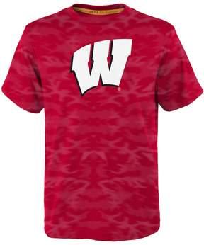 NCAA Boys 4-7 Wisconsin Badgers Vector Dri-Tek Tee