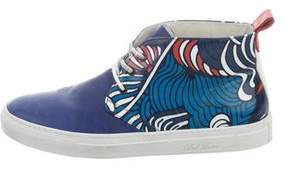 Del Toro x Pepsi Leather Printed Sneakers