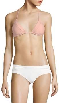 Pilyq Women's Mesh-Trimmed Bikini Top
