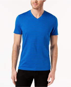Alfani Men's Space-Dyed Stripe V-Neck T-Shirt, Created for Macy's