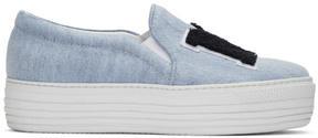 Joshua Sanders Blue NY Double Slip-On Sneakers