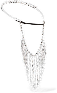 Miu Miu - Fringed Silver-tone, Crystal And Bead Headband