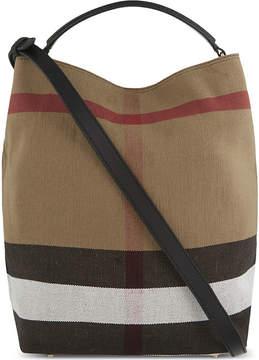 Burberry Ashby medium canvas bucket bag - BLACK - STYLE
