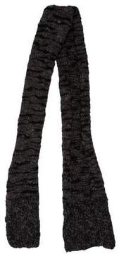 Stella McCartney Wool & Cashmere Rib Knit Scarf