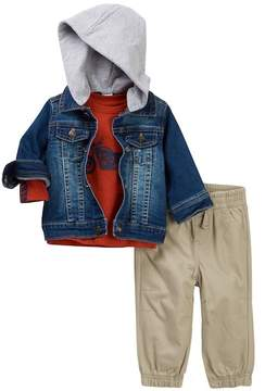 Little Me Knit Denim 3-Piece Jacket Set (Baby Boys)