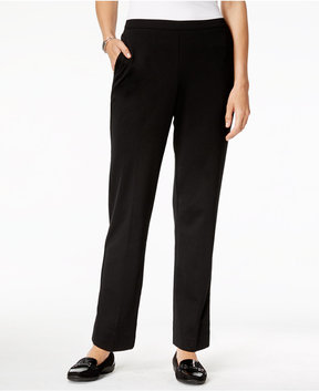 Alfred Dunner Talk Of The Town Ponte-Knit Pull-On Pants