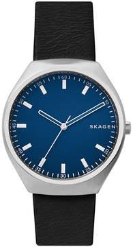 Skagen Men's Grenen Black Leather Strap Watch 40mm