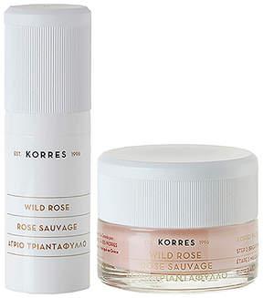 Korres Wild Rose Vitamin C Petal Peel 2-Step Brightening & Resurfacing System.