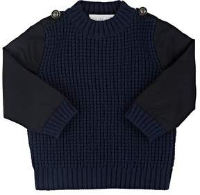 Stella McCartney KIDS' APOLLO TECH-SLEEVE WOOL-COTTON SWEATER