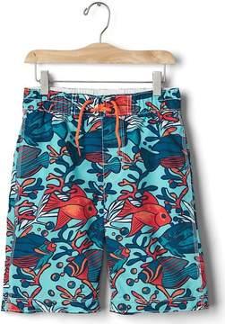 Gap Coral fish board shorts