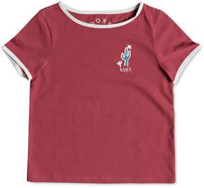 Roxy Graphic-Print Ringer Cotton T-Shirt, Little Girls