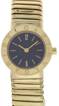 Bulgari Tubogas BB 23 2T 18K Yellow Gold Quartz 23mm Womens Watch