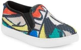 Botkier New York Hayley Textured Leather Slip-On Sneakers