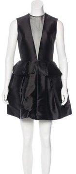 Christian Dior Silk Peplum Dress