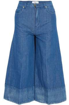 Co Cropped High-Rise Wide-Leg Jeans