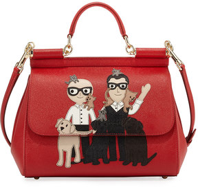 Dolce & Gabbana Sicily Medium Family Patch Bag, Red - RED - STYLE