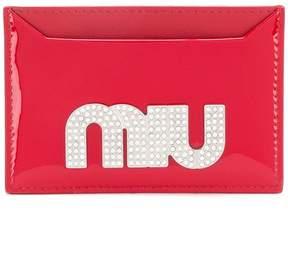 Miu Miu maxi crystal logo card holder