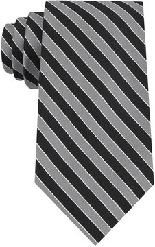 Club Room Men's Classic Diagonally-Striped Tie, Created for Macy's