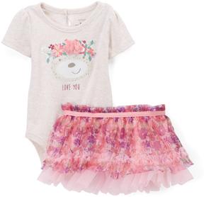 Baby Starters Pink Bear Bodysuit & Tutu - Infant