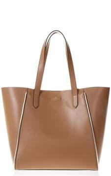 Hogan Caramel Leather Shopping Bag With Logo